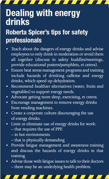 Safety tips for dealing with energy drinks